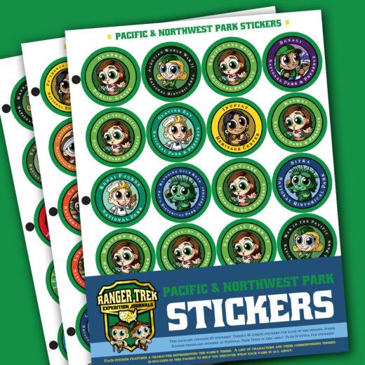 Ranger Trek™ Pacific Region and Northwest Region Park Stickers